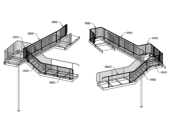Steel Stairs, Handrail and Balustrade - SEQ Steel Detailing | SEQ